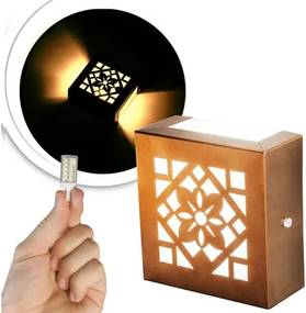 Arandela Frisada Flat Externa c/ LED 5W Incluso | Cor da Luz: 2.700k | Tam: 14x14cm | Cor: Cobre | Soq: G9 | Mod: Cecia