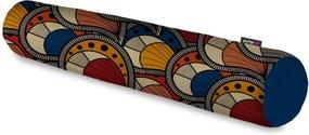 Rolo Decorativo Pump UP Estilo Étnico Multicor Grande 128x12 cm