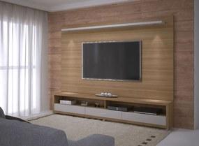 Conjunto Painel e Rack Ducam 200 cm - Wood Prime RM 33179