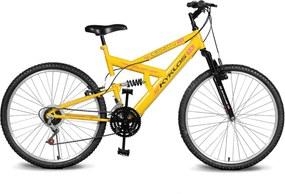 Bicicleta Kyklos Bikes Aro 26 Caballu 7.2 Alumínio Natural 21V Amarelo