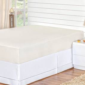 Protetor de Colchão DOURADOS ENXOVAIS Impermeável Branco Queen 01 Peça