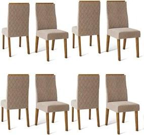Conjunto 8 Cadeiras Cássia Demolição Tecido Veludo Kraft