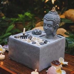 Fonte de Água Cabeça de Buda Jardim Zen