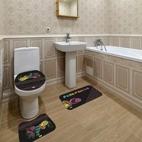 Jogo de Banheiro Páscoa Feliz Páscoa PretoÚnico