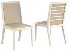 Conjunto 02 Cadeiras de Jantar Chermont Off White - Wood Prime VM 20414