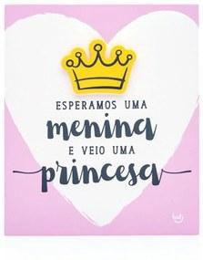 Plaquinha Ludi Bebê Princesa Rosa