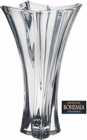 Vaso De Cristal Brilhante Bohemia Flolare