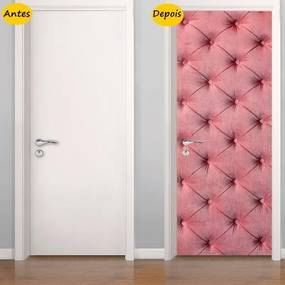 Adesivo De Porta Capitonê Rosa (0,80m x 2,10m)