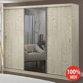 Guarda-roupa Casal 3 Portas 100% MDF 1902e1 Marfim Areia - Foscarini