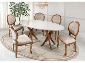 Conjunto de Jantar Oval com Cadeiras Canadá -