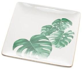 Jogo Mini Travessas 2 Peças Porcelana Leaf 12x12x2cm 61324 Royal