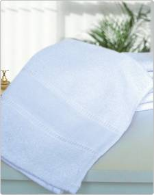 Toalha Lavabo Branca Kit com 12