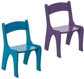 Kit 2 Cadeiras Infantis em MDF - Pintura em Laca Azul/Roxo