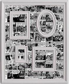 Quadro Magnético para Retratos DC Comics Preto e Branco - Urban