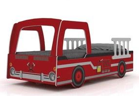 Cama Infantil Solteiro Caminhão De Bombeiro Gelius Vermelho