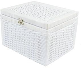 Caixa Organizadora Fibra Sintetica 30x25x20 - Branco