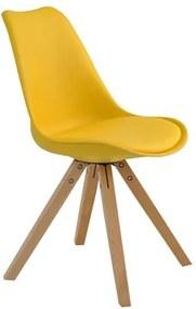 Cadeira Agata em Madeira Maciça Amarelo