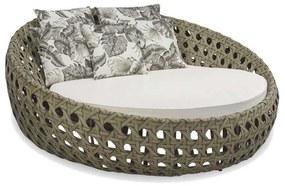 Chaise Longue Ostra Área Externa Fibra Sintética Estrutura Alumínio Eco Friendly Design Scaburi