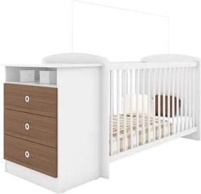 Quarto de Bebê com Berço Cômoda Encanto CJ003 Branco/Montana - Art in Móveis