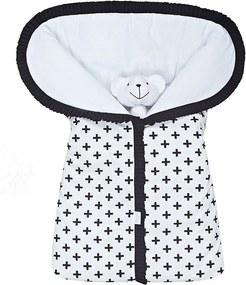 Porta Bebê Cruzinha Preto 100% Algodão