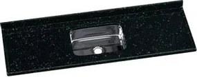 Pia Sintética Granitada A.j Standart Standard Preto Cuba Inóx 160X55cm