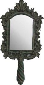Espelho de Moldura Pequena e Pintura Envelhecida