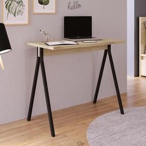Mesa Escrivaninha Home Office Aço 90cm Carvalho e Preto