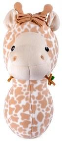 Cabeça de Girafa para Decoração de Parede Bege