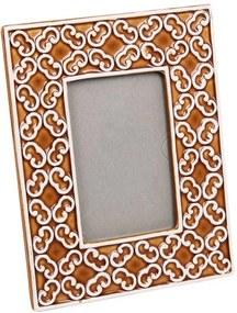 Porta-Retratro Amarelo Geométrico em Cerâmica - 25x20 cm
