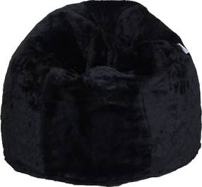 Puff Soft Pelúcia Preto Stay Puff