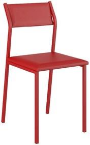 Cadeira Tubo Vermelho Napa Vermelho Carraro