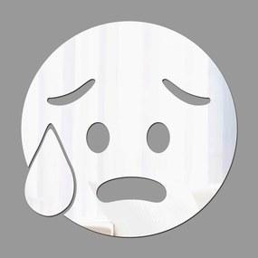 Espelho Decorativo Emoji Super Preocupado