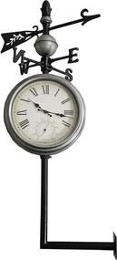 Relógio Estação Externo com Termômetro Rosa Ventos