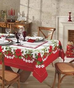 Toalha de Mesa Retangular 8 Lugares Natal 66