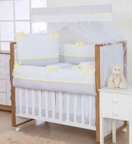 Kit Berço I9 baby 100 % AlgodÁo 9 peças Encanto Amarelo