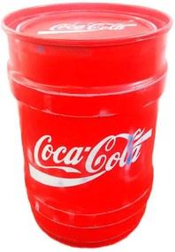 Tambor Decorativo Pequeno Coca Cola Vermelho