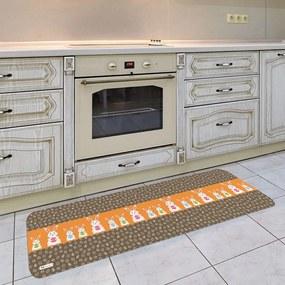 Tapete de Cozinha Páscoa Coelhos Laranja40x120cm