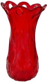 Vaso em Murano Vermelho 37 x 20 Cm