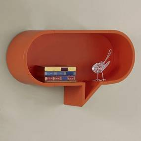 Prateleira Decorativa Oval Cartoon 823 Laranja Novo - Maxima