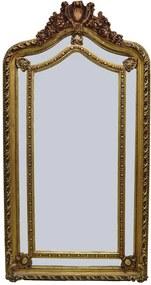 Espelho Decorativo Clássico com Moldura Dourada - 190x90x6cm