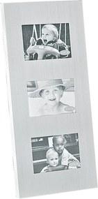 Porta Retrato Decorando com Classe Alumínio Vertical Prata