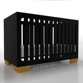 Berço 2X1 Parthenon Preto Timber.