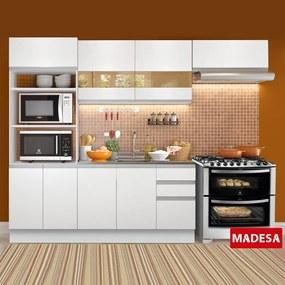 Cozinha Compacta 8 Portas 3 Gavetas Marselha Rustic/Saara - Madesa