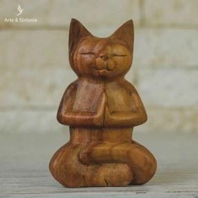 Escultura Gato Namastê | Bali