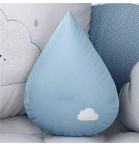 Almofada Azul Gota Nuvem 30cm Grão de Gente Azul