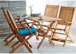 Jogo de Mesa com 4 Cadeiras Dobráveis Acqualung Jatobá - Mão & Formão