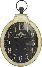 Relógio de Parede Oval com Fundo Escuro
