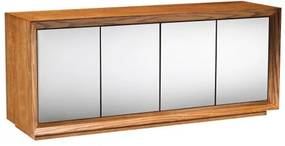 Buffet Passos Amendoa 4 Portas Espelho Prata 2,40 MT- 36104 Sun House