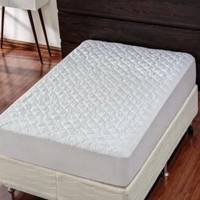 Protetor para Colchão Impermeável Solteiro - Poliéster Branco