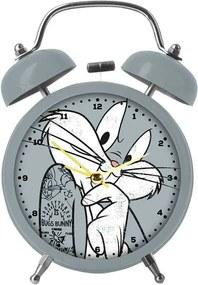 Relógio Despertador Looney Tunes Bug Bunny Concerned em Metal - Urban